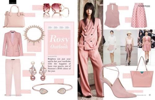 Brighten not just your spirits but your wardrobe with the happiest of hues: rose quartz, one of Pantone's 2016 colors of the year.
