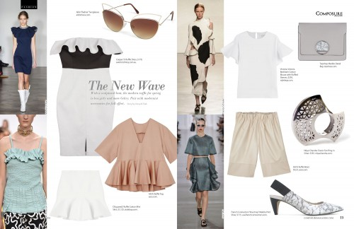 Fashion: The Modern Ruffle for Spring Fashion