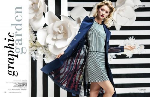 "Fashion Editorial ""Graphic Garden"" by John Hong"