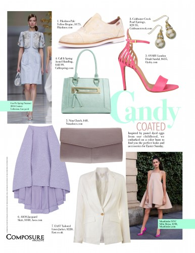 Candy Coated pastel hued clothing and accessories for Easter