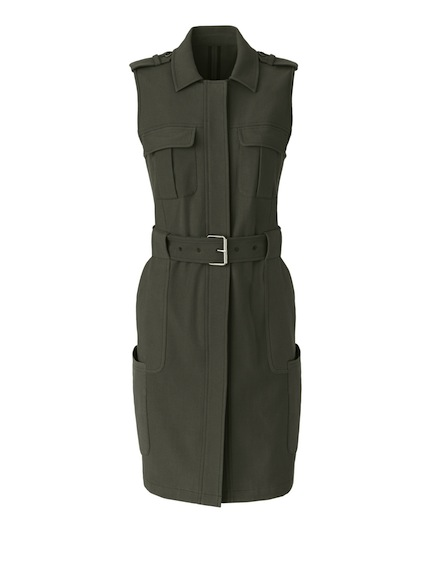 couture inspired greens st patricks day Olivia Palermo + Chelsea28 Twill Military Vest, $158, Nordstrom.com And Nordstrom Inc.
