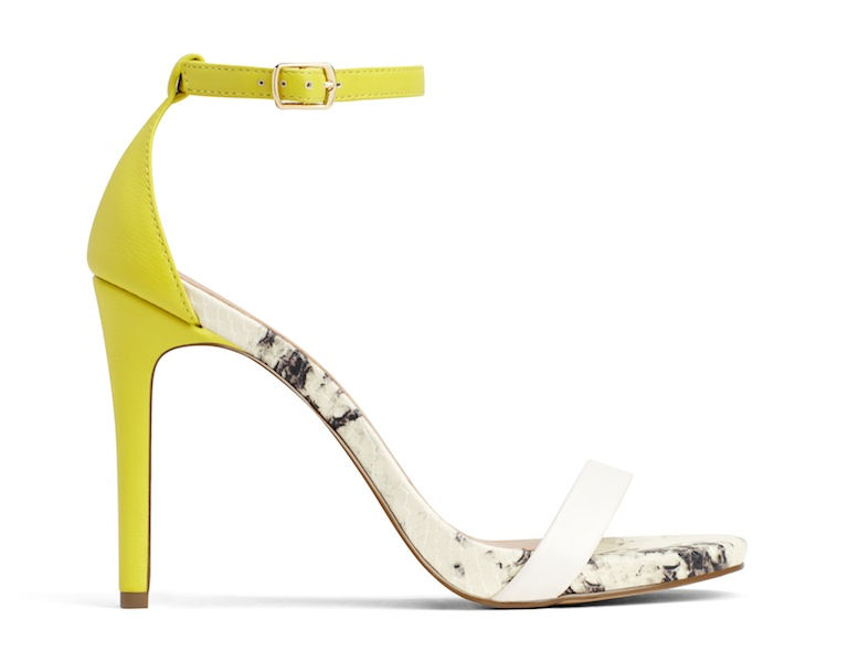 couture inspired greens st patricks day Call It Spring Balewen Sandal, $49.99, Callitspring.com