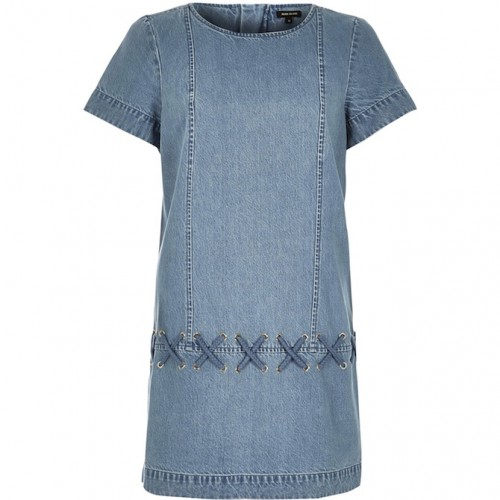 river island denim dress