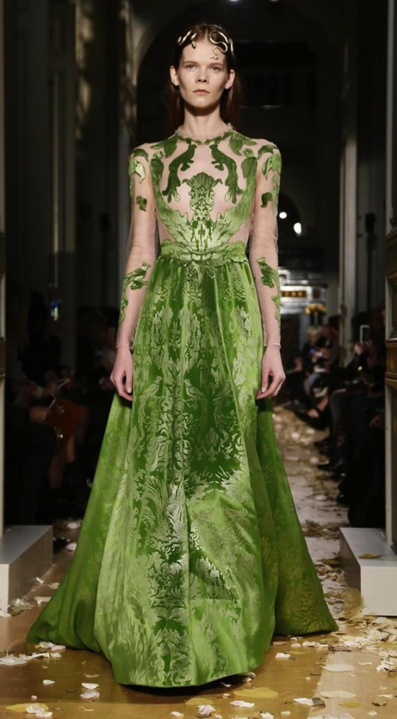 couture inspired greens st patricks day Valentino SS 2016 Couture Collection, Valentino.com