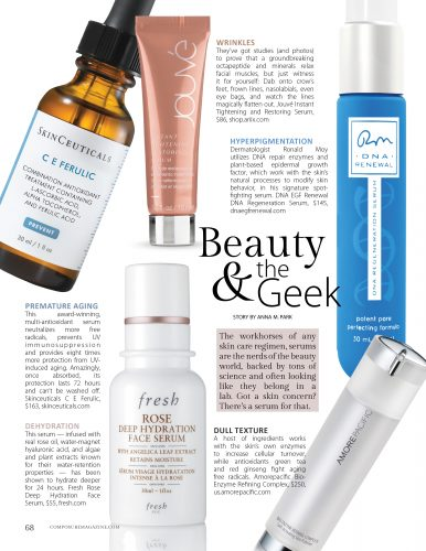 Composure Magazine Beauty & the Geek serums