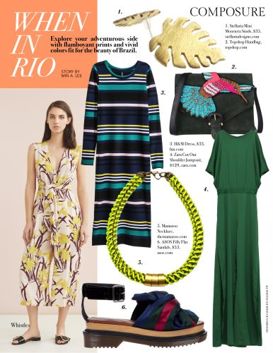 When in Rio Composure magazine Brazil inspired fashion