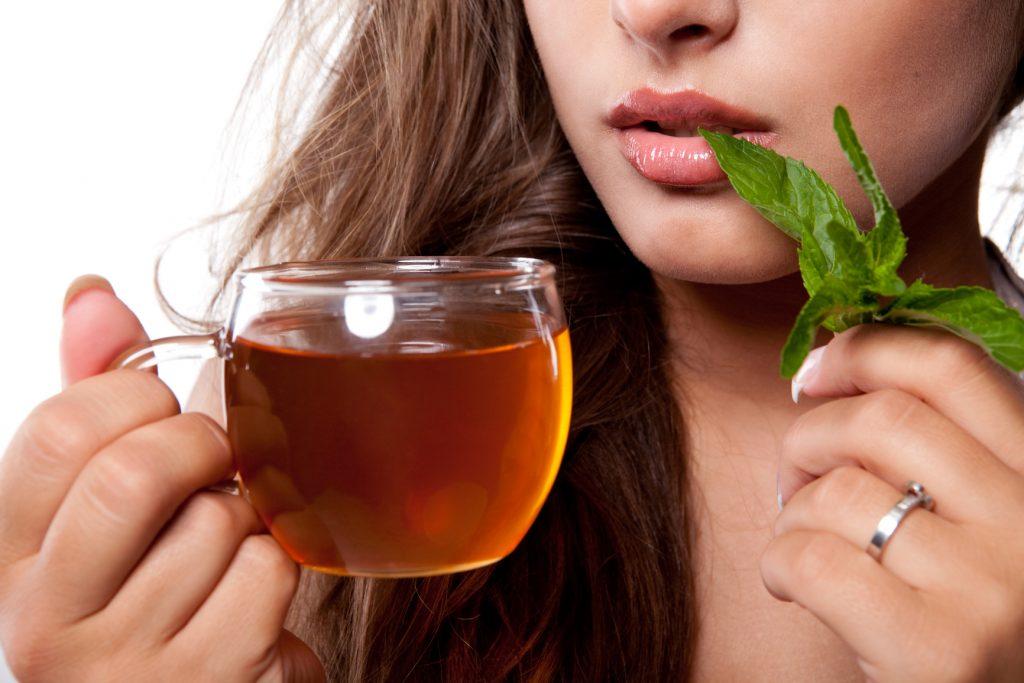 beauty supplements spearmint tea for acne