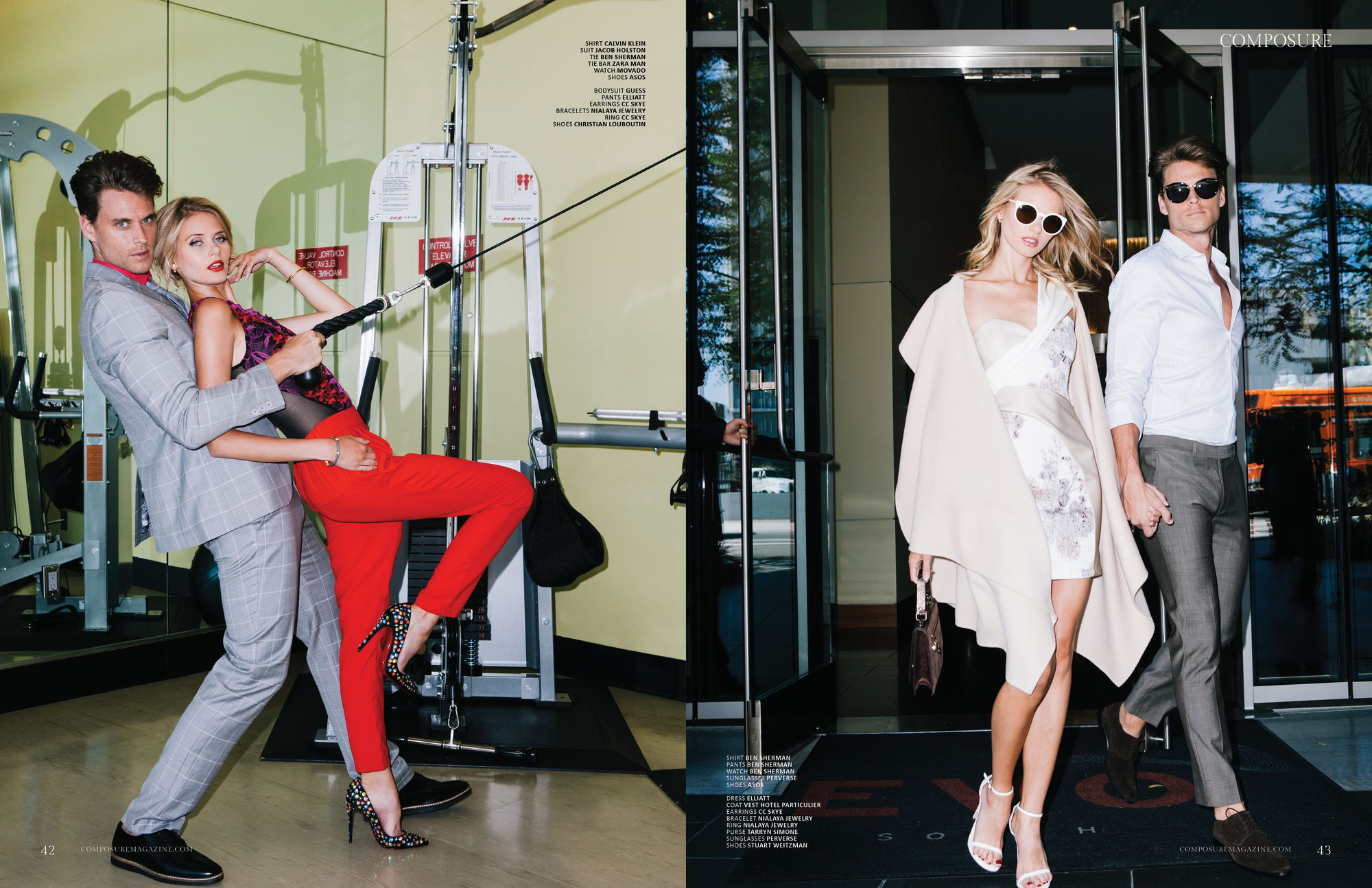 Fashion Editorial photographed by John Hong and Styled by Dominique Aimee