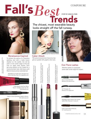 Fall's Best Trends: The chicest, most wearable beauty looks straight off the fall runway.