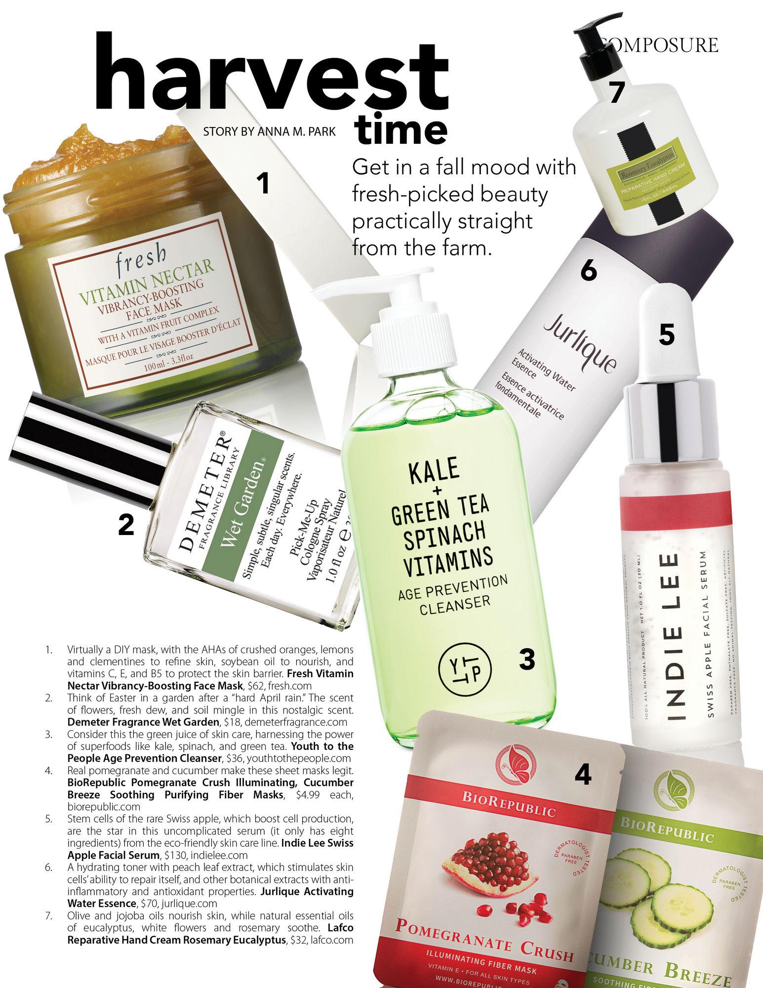composure magazine harvest time