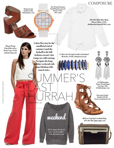 Summer's Last Hurrah: Labor Day fashion