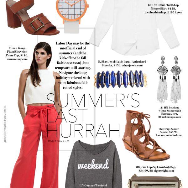 Summer's Last Hurrah: Labor Day fashion