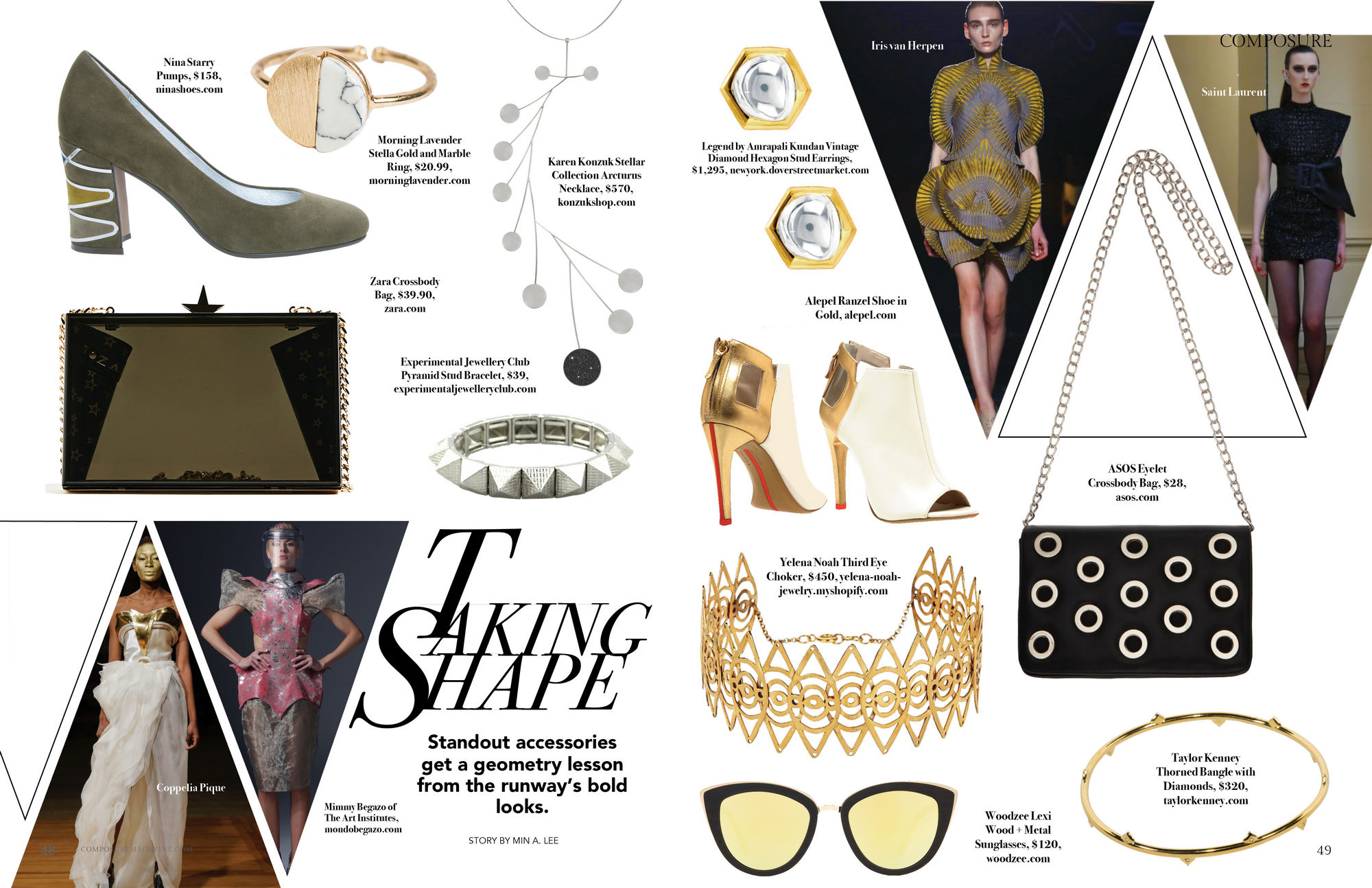 Taking Shape: Standout accessories get a geometry lesson from the runway's bold looks.