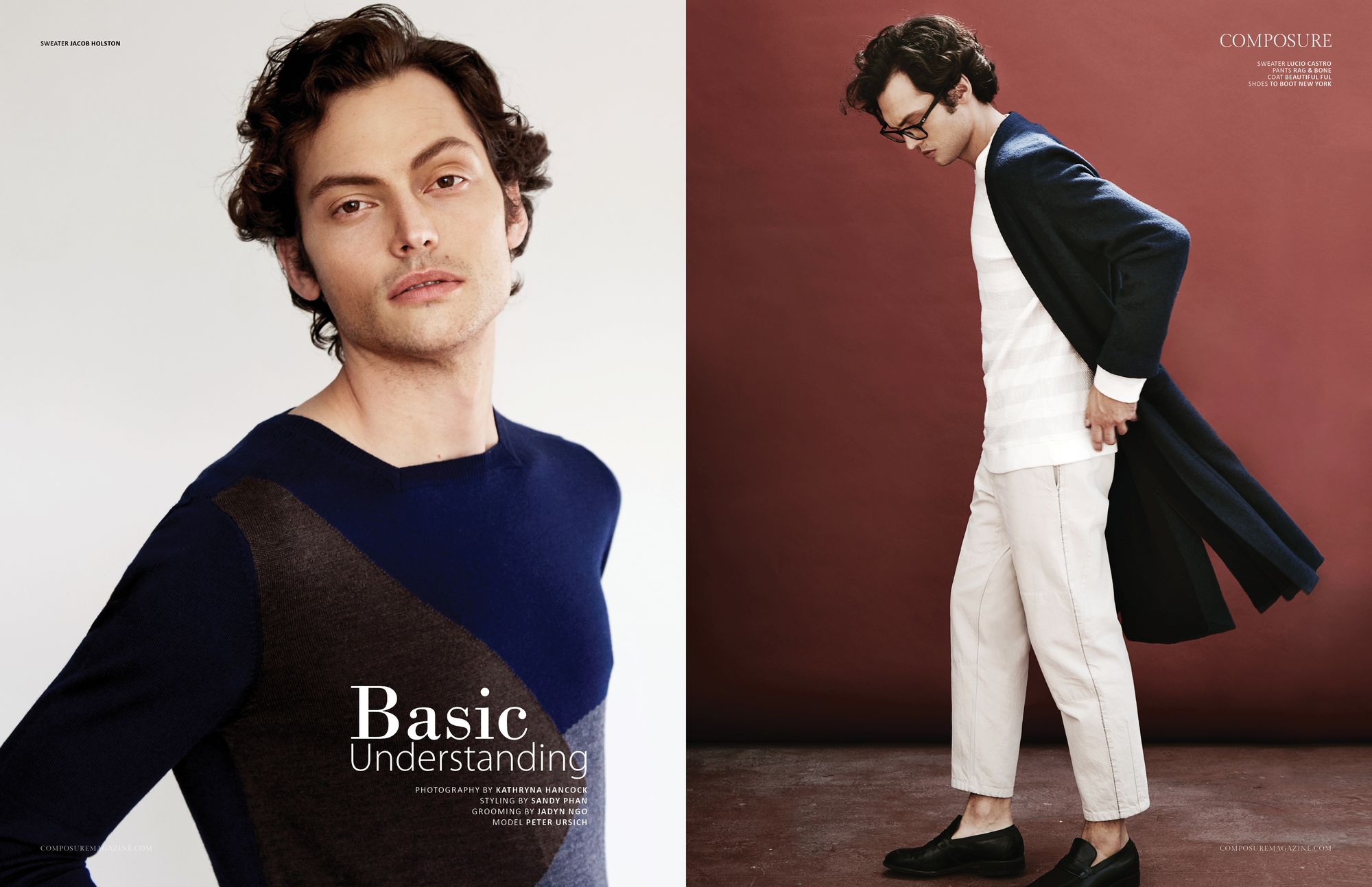 """Fashion Editorial """"Basic Understanding"""" by Kathryna Hancock and styled by Sandy Phan"""